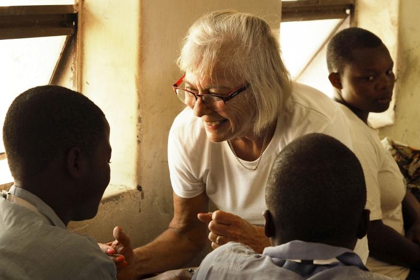 Malawi: Dansk frivillig peptalker.