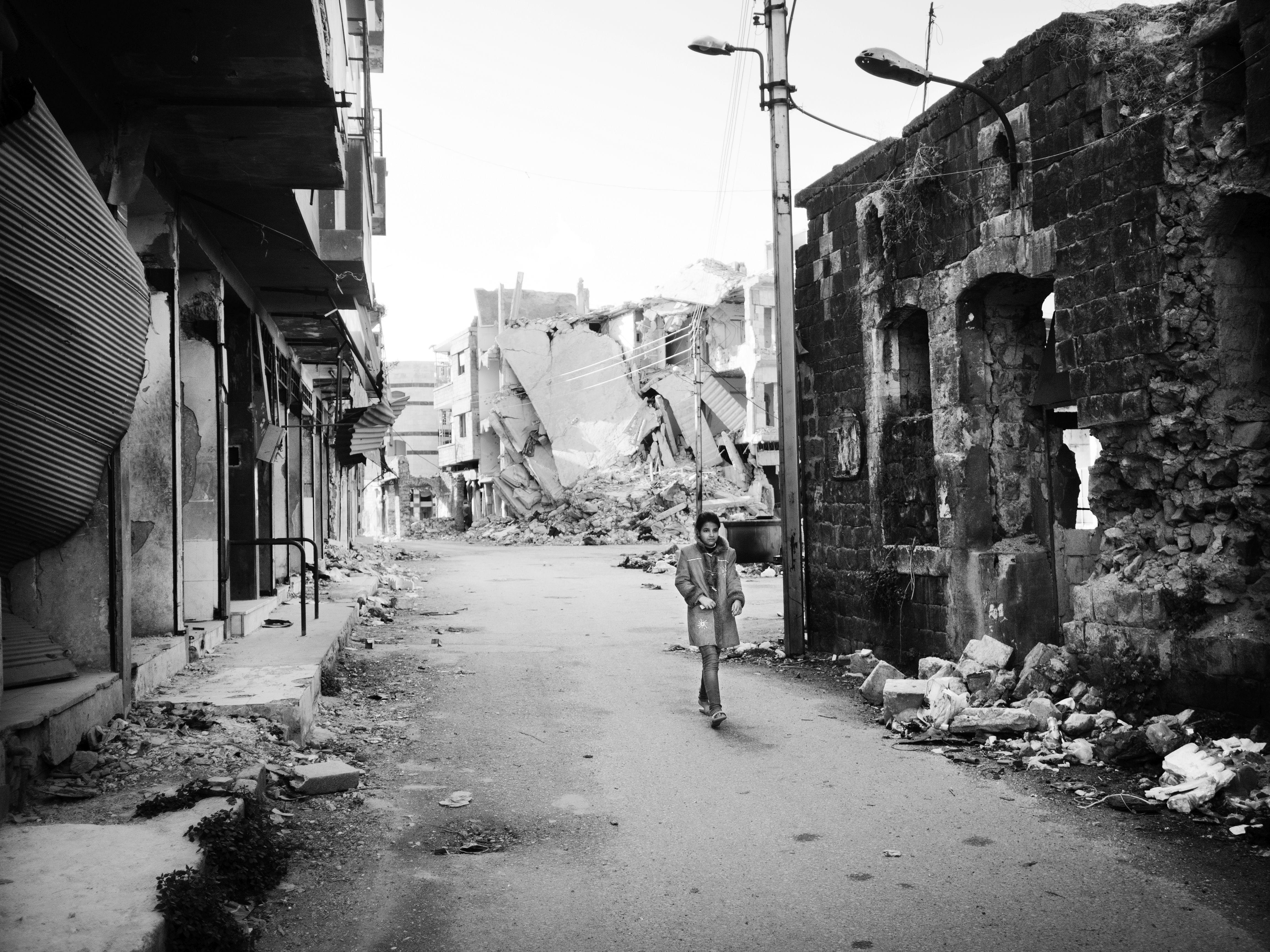 Syrien, Homs: Ruinerne i den gamle bydel.