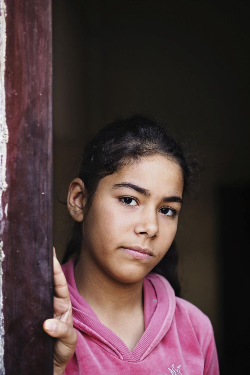 Jordan: 14-årig syrisk flygtning.