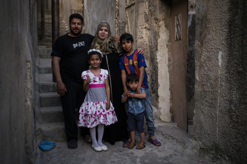 Abdallah med sin familie